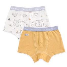森林樂園男平口褲-2入(羊毛保暖布)