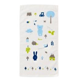 彩繪熊紗布毛巾(童巾)