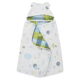 森林家族四層紗浴包巾