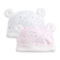早產兒專用造型熊耳帽-2入(鋅纖維)