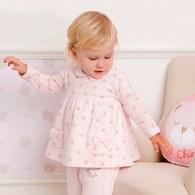 粉色小熊印花上衣
