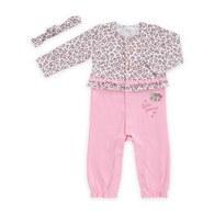 粉紅豹長袖兔裝-附髮帶