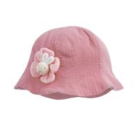 彩色比得純棉紗布花瓣帽