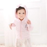粉色愛心兔連帽外套